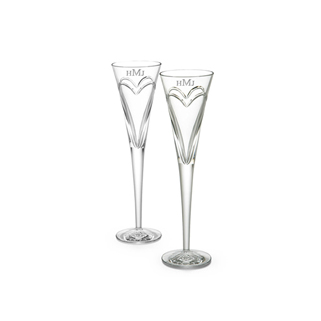 Romatic Gifts Waterford Flutes