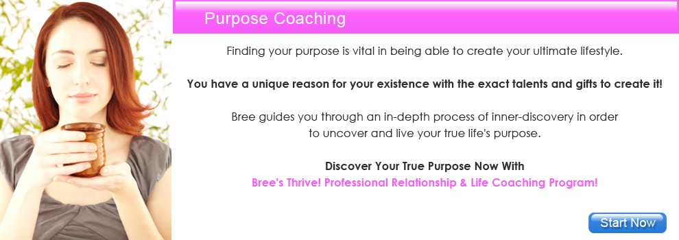 Professional Relationship & Life Coach Bree - Purpose