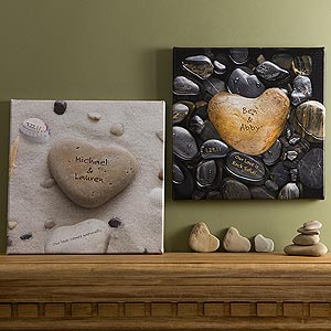 Romatic Gifts Heart Rocks